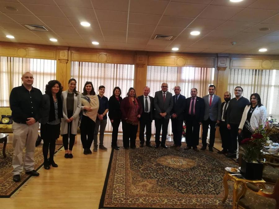 Посещение в университета Ал-Мансура, Египет, по линия на Еразъм+