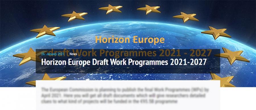 """Проекти на първите работни програми по РП """"Хоризонт Европа"""" 2021-2027"""